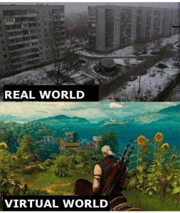 دنیای واقعی و مجازی